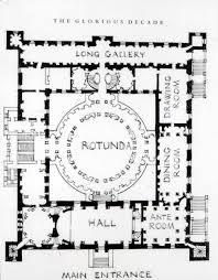 Harrods Floor Plan 18th Century England Plan Kedleston 1760s Derbyshire By