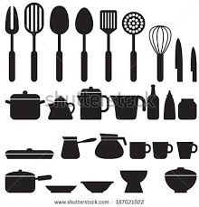 Kitchen Utensils And Tools by Kitchen Cooking Tools Utensils Stock Vector 85224904 Shutterstock