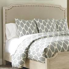 Upholstered Nailhead Headboard by Signature Design By Ashley Demarlos King Cal King Upholstered