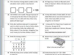 four operations mixed multiplication division subtraction addition