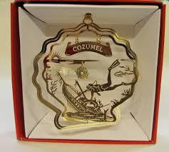 cozumel mexico ornament brass souvenir travel gift