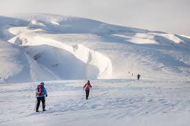landmannalaugar cross country skiing tour icelandic mountain guides