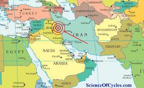 map iran iraq powerful 7 3 magnitude quake hits iran iraq border science of cycles