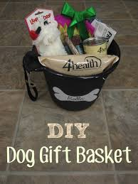 diy gift basket idea for dogs for christmas or for use at a