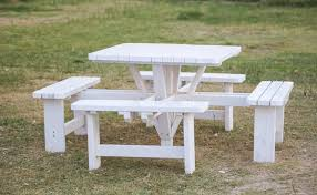 Plans For Picnic Table With Attached Benches by 31 Alluring Picnic Table Ideas