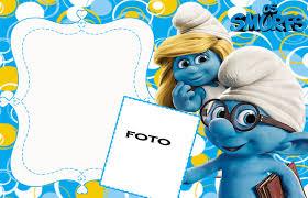 smurfs baby shower invitations convites aniversário para imprimir convites digitais simples