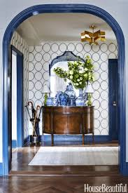 navy trim is the clever trick that brings this apartment together