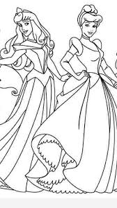 coloring pages disney princesses together timykids