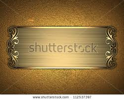 gold name plate template inscription gold background gold nameplate stock
