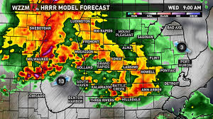 Weather Map Of Michigan by 2 Rounds Of Strong To Severe Storms Possible Wednesday Wzzm13 Com