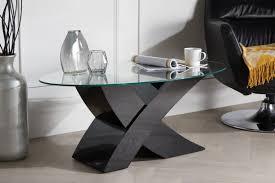 modern black end table milano x high gloss black coffee table furniturebox