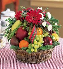 christmas fruit baskets flower shop christmas