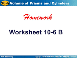 holt geometry 10 6 volume of prisms and cylinders warm up find the