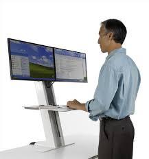 bureau pour travailler debout stand adaptable sur bureau pour travail assis debout gre
