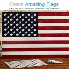 Flags Of America States Amazon Com American Flag 50 Star Stencil For Painting On Wood