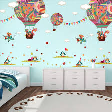 air balloon wall stickers living room background wall stickers