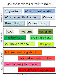 talk to mom u201d illustrated social skills worksheets for kids with