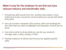 How To Highlight Skills In by Masterclass Applying For Graduate Employment Ppt Download