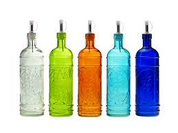 exquisite vintage colored glass potion medicine bottles similiar