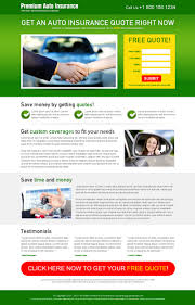 auto insurance free quote appealing lead capture landing page