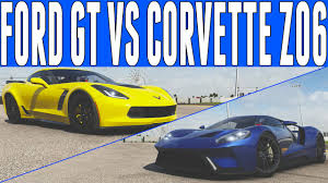 corvette gt forza 6 drag race 2017 ford gt vs chevrolet corvette z06