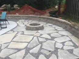 Backyard Flagstone Patio Ideas Flagstone Patio Ideas Backyard Makeover Edwardsville Fire Pit