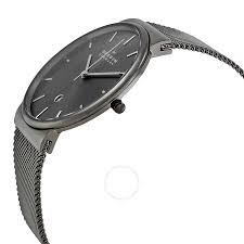 peugeot quartz side view skagen ancher mesh grey bracelet watch topwatchesnow com