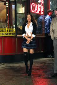 megan fox in a halloween costume on the tmnt 2 set june 2nd