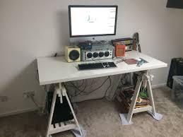 Trestle Computer Desk White Ikea Trestle Desk Table Worktop In Kinver West Midlands