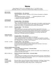 Example For Resume Writing by Resume 1 The Layout Is Clean And Easy To Read Intern Resume