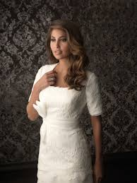 trumpet mermaid square neck tiered lace modest wedding dress with