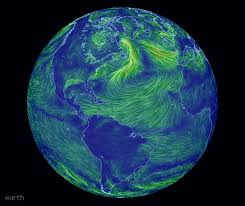 earth wind map an animated map of global wind and weather