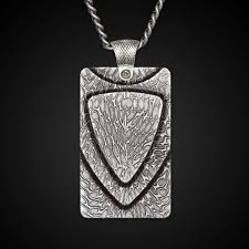 steel dog tag necklace images William henry pulse damascus steel dog tag 22 quot necklace jpg