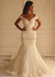 robe sirene mariage robe de mariée sirene traine appliques naturel epaule écrite avec