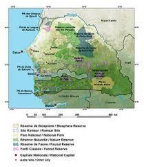 africa map senegal the republic of senegal west africa