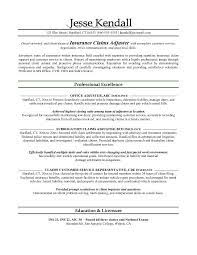 Insurance Sample Resume by Lofty Claims Adjuster Resume 11 Insurance Sample Great Formats