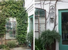 high low mirrors in the garden gardenista