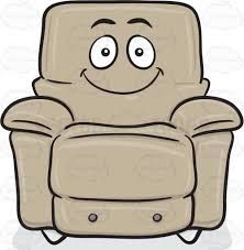 smiling stuffed chair emoji cartoon clipart vector toons