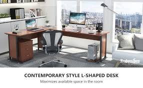 Modern L Shaped Desks 87 Tribesigns Largest Modern L Shaped Desk With