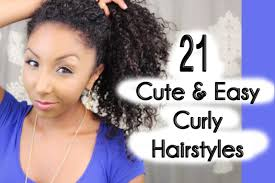 21 cute and easy curly hairstyles biancareneetoday youtube