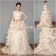 wedding gowns 2014 gown strapless sweep organza wedding gown 2014