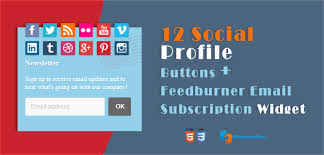 Feedburner Email Subscription Widget With    Social Buttons