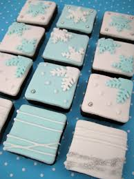 bubble and sweet snowflake flurry cookie bites cute mini square
