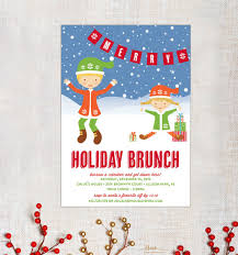 christmas brunch invitations items similar to magical christmas brunch party invitation