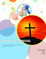 free church brochure templates for microsoft word 3 church carnival flyer templates using microsoft office