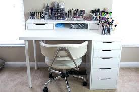 ikea makeup organizer diy makeup vanity desk set up alex ikea hack vanity girl makeup