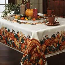thanksgiving tablecloth printed fabric rectangular 60 x 84 104 120