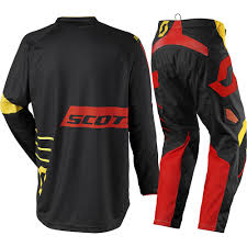 mx motocross gear scott 2017 mx new 350 dirt black yellow jersey pant dirt bike