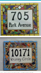 amazon com tile mosaic house number plaque address or name sign