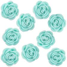 teal roses sugar flowers layer cake shop